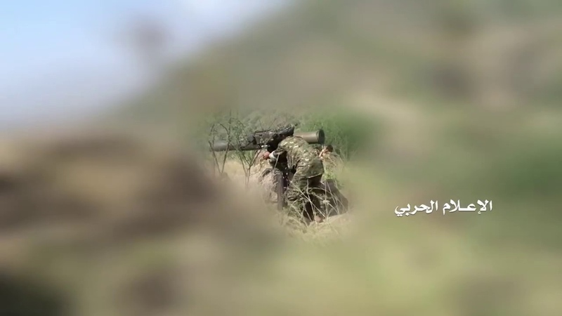 Yemeni Houthis with TOW or it Iranian copy Toophan ATGW