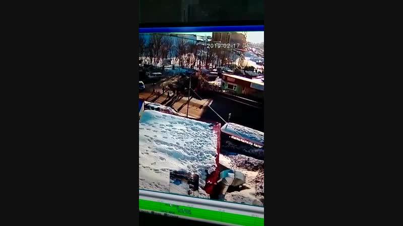 Полет грузовика в Петропавловске