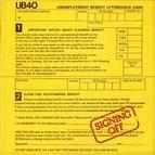 UB40 альбом Signing Off
