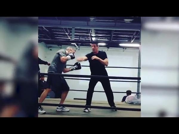 Сталлоне и Де Ниро встретились на боксерском ринге