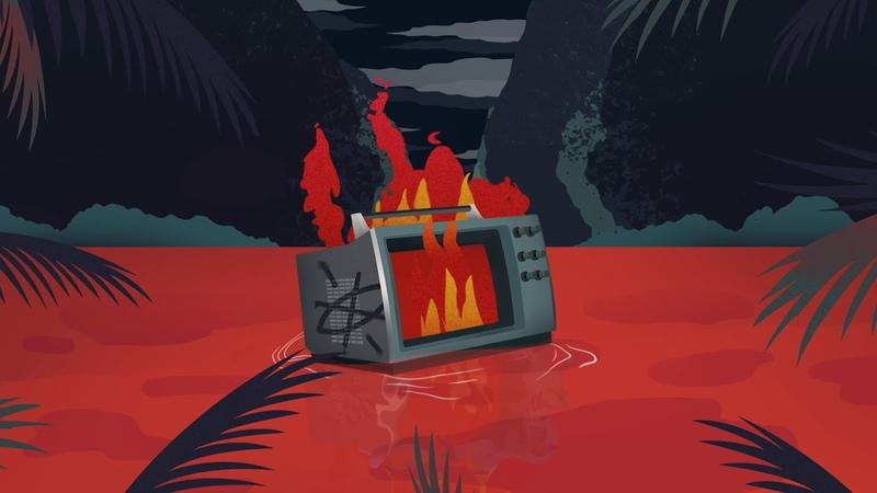 TV Noise Blinders - Fire