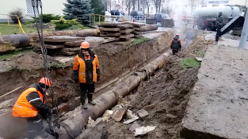Аварийная замена… В центре Слуцка нет горячей воды и отопления