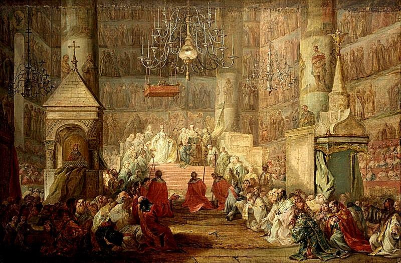 «Коронование Екатерины II 22 сентября 1762 года», Стефано Торелли, 1777.