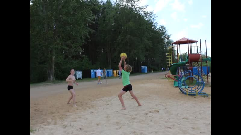 Разминка с волейбольным мячом