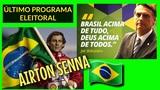 🔴DESPEDIDA DA ÚLTIMA PROPAGANDA ELEITORAL JAIR BOLSONARO AIRTON SENNA DO BRASIL