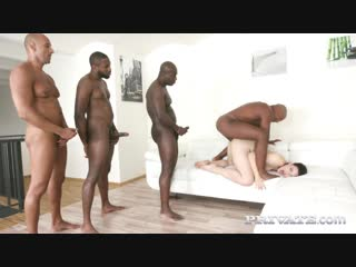 Hannah vivienne - interracial gangbang [all sex, hardcore, blowjob, gonzo]