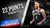 D'Angelo Russell Full Highlights 2019.03.01 Nets vs Hornets - 22 Pts, 9 Asissts! FreeDawkins
