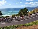 La Vuelta Etapa 18 control de firmas salida Ejea de los Caballeros