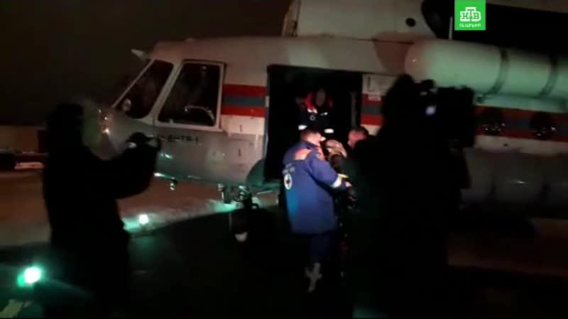 Пострадавших в псковском ДТП доставили в Петербург на вертолете
