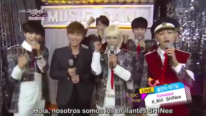 131018 SHINee y K.will @Music Bank (Sub Esp.)