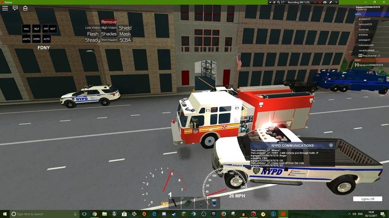 Roblox gameplay || NYC police sim 5 || NYFD!