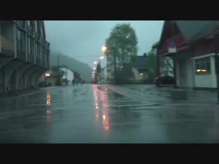 Rain and Water in Otta (Norway) (Норвегия)