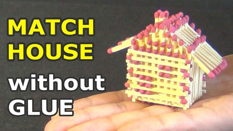Match House WITHOUT GLUE – DIY   How to make a match house and burn it