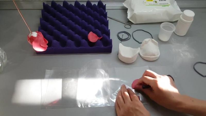 Видео из МК Роза Бордо - лепестки для розы