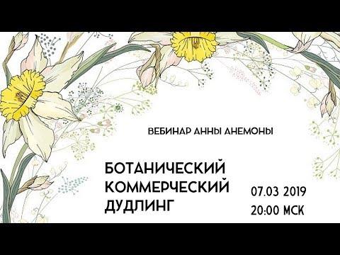 Вебинар Анны Анемоны Ботанический коммерческий дудлинг