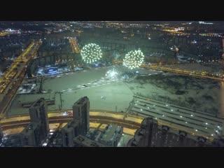 Новогодний салют с высоты. озеро долгое, приморский район, санкт-петербург _ new year fireworks