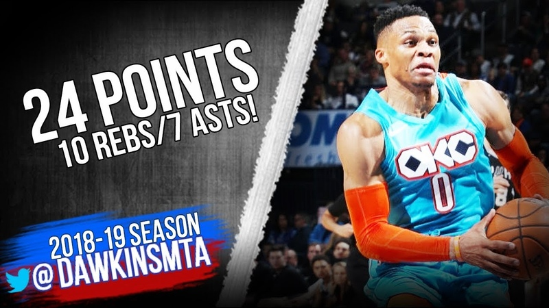 Russell Westbrook Full Highlights 2019 01 12 Thunder vs Spurs 24 10 7 FreeDawkins