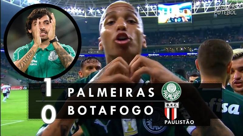 Palmeiras 1 x 0 Botafogo-SP - Melhores Momentos (60fps) Paulistão 2019