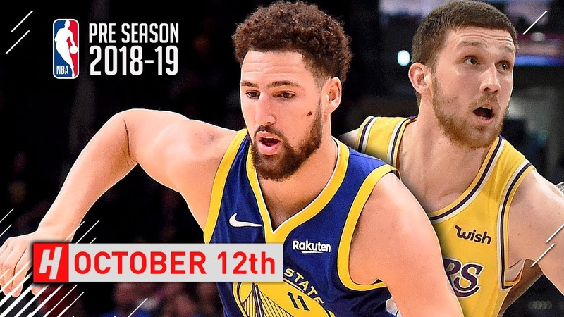 Svi Mykhailiuk vs Klay Thompson SICK Duel Full Highlights 2018.10.12 - CRAZY Shootout!