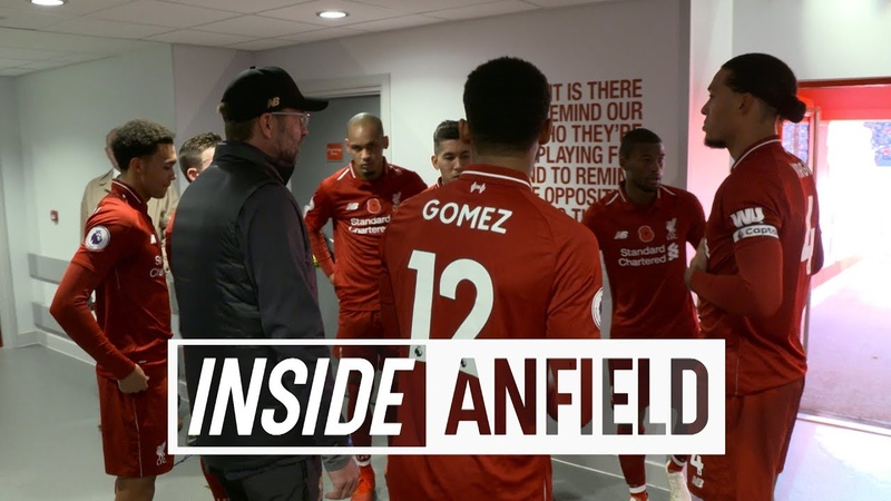 Inside Anfield Liverpool 2-0 Fulham | Exclusive tunnel cam from victory on Remembrance Sunday