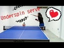 How to serve underspin--Yangyang's table tennis lessons