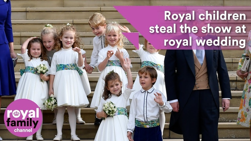 Royal children steal the show at Princess Eugenies wedding
