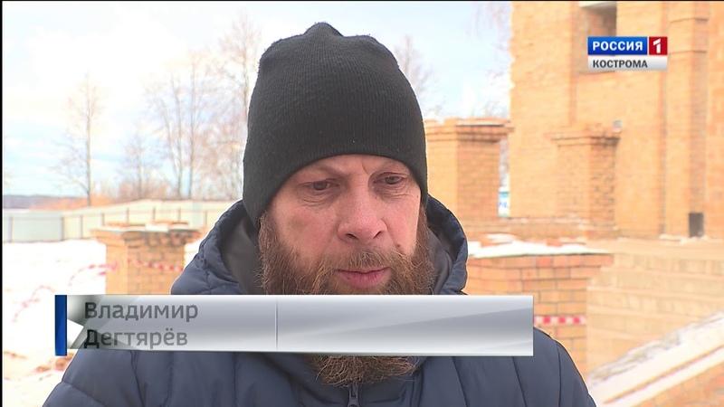 На звоннице строящегося Костромского Кремля впервые зазвучали колокола