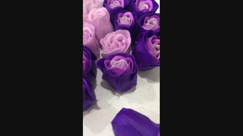 Фиолетовые мыльные розочки