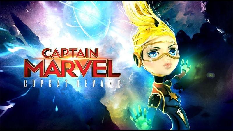 Doll Figurine CAPTAIN MARVEL Marvel Universe | Ms. Marvel | Superhero | Monster High Repaint Ooak
