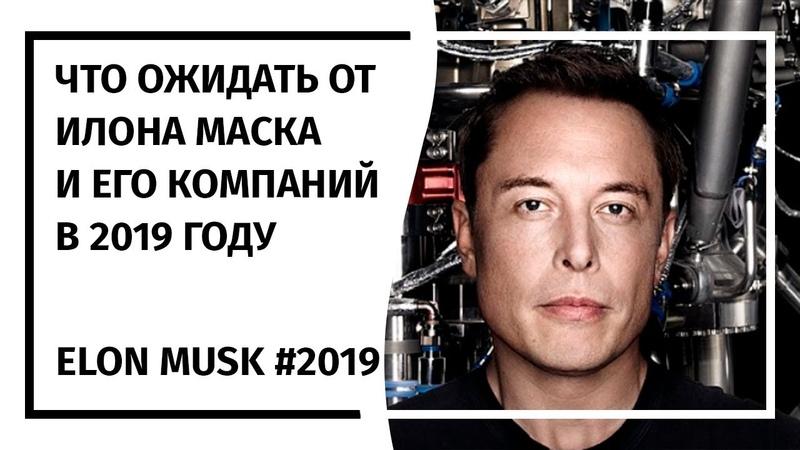 Что ожидать от Илона Маска и его компаний в 2019 году?