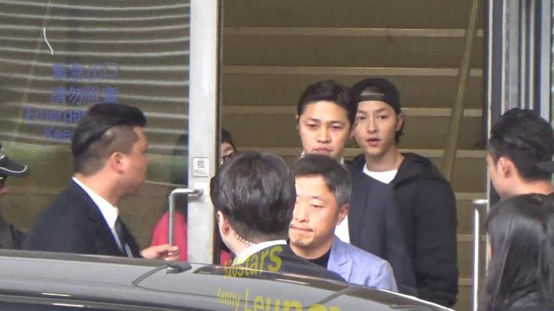 宋仲基Song Joong Ki(송중기) Arrived Hong Kong Airport 20181213