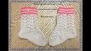 Детский комплект спицами (до 1 года): 2.Носочки на двух спицах/knitting baby socks