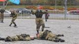 Показательное выступление по рукопашному бою 38-ой гвардейский полк связи воздушно-десантных войск