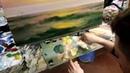 А.Южаков Морской пейзаж маслом Рассвет Урок живописи для начинающих