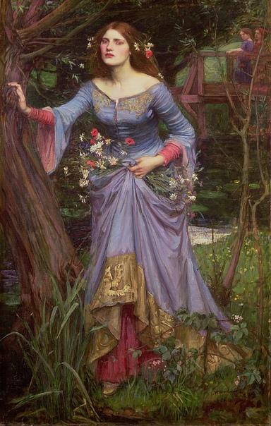 Три Офелии Джона Уотерхауса Образ шекспировской героини играл особую роль в творчестве Уотерхауса,. Художник посвятил ее предсмертным минутам три своих работы, созданные в 1889, 1894 и в 1910