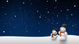 Картинка зима. Star, constellation, созвездия, звезды, snowmen, зима, winter, снеговики.