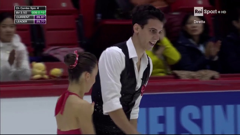 Laura BARQUERO / Aritz MAESTU ESP Short Program Grand Prix Helsinki 2018