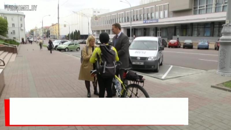 Китайская путешественница Ванг Ксяовэй путешествует по Беларуси на велосипеде