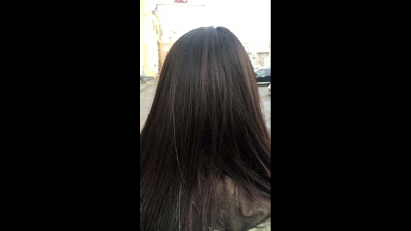 Наполнение волос цветным пигментом
