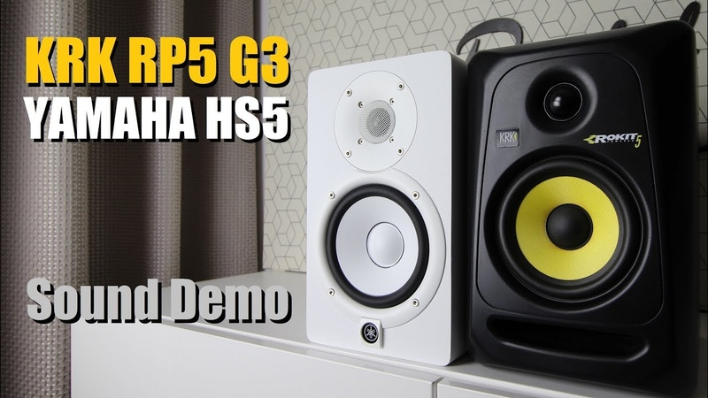 KRK Rokit 5 RP5G3 vs Yamaha HS5 || Sound Demo w/ Bass Test