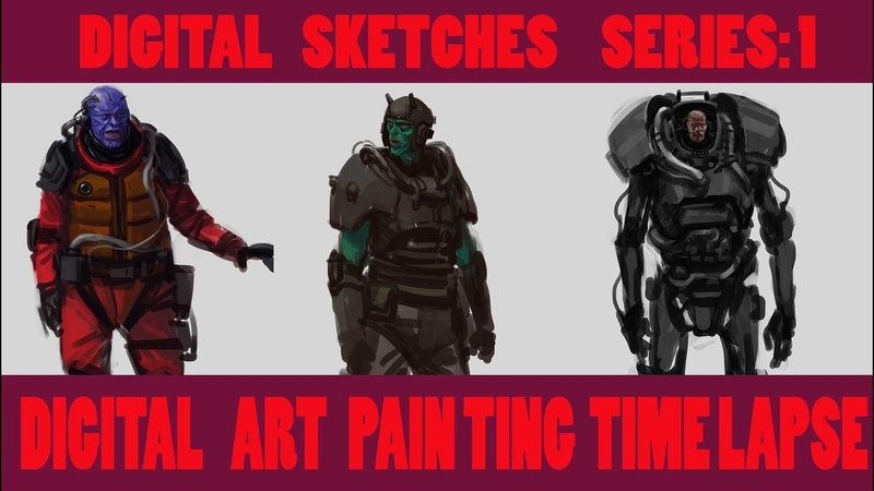 Digital Art Painting [Time Lapse] Digital Sketches-1