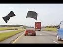 Flying hood of car - Car crash compilation