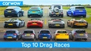 Best Drag Races Ever Lamborghini v Tesla vs AMG v BMW M v Audi RS v McLaren and more