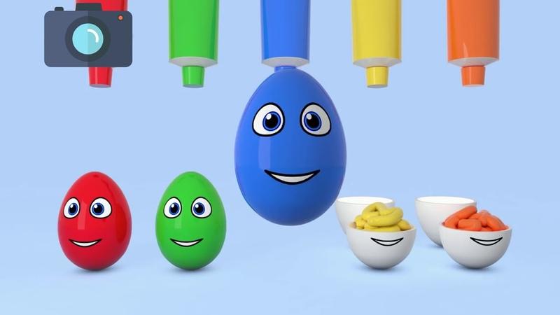 Изучите цвета с яйцами сюрпризами, Компиляция для детей 3D-мультфильмов