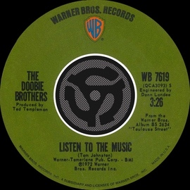 The Doobie Brothers альбом Listen To The Music / Toulouse Street [Digital 45]