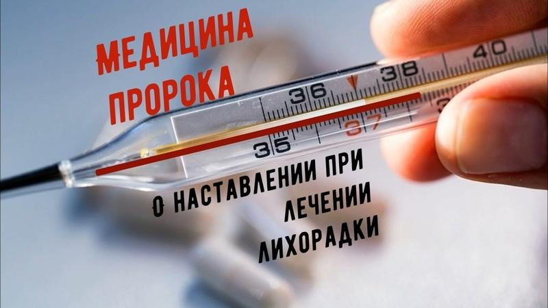 МЕДИЦИНА ПРОРОКА О наставление при лечении лихорадки