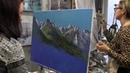 Игорь Сахаров, научиться писать горы маслом, горный пейзаж с фото