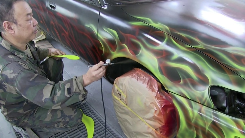 How to paint like a Flames / キャンディー塗装でファイヤー風の炎柄!カスタムペイント