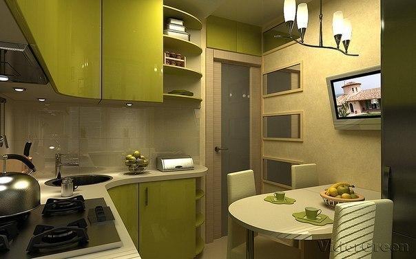 Интерьер кухни площадью 6 кв.