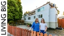 Solo Mother With Teenage Daughter Builds Amazing Tiny House || Living Big In A Tiny House